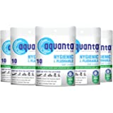 Aquanta Premium Disposable & Flushable Toilet Seat Cover (5 Packs of 50 Sheets)