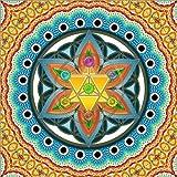 Posterlounge Holzbild 120 x 120 cm: Merkaba, Blume des Lebens, Heilige Geometrie, Chakren von Lava Lova
