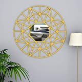 WallMantra Beautiful Decorative Vanity Mirror with Golden Color Finish Frame