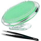 Silky Skin exfoliant brosse pour traiter et prévenir les bosses de rasoir et les poils incultivables cou, ligne de bikini pou