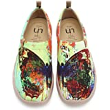 UIN Scarpe Espadrillas Casual Slip on Mocassini Donna estive Art dipinte Colorate Basse Sneakers Tela da Passeggio