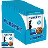 PUREPET Wet Dog Food, Chicken and Vegetable Chunks in Gravy, 15 Pouches (15 x 70g)
