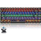 Tastiera Meccanica da Computer Gaming, USB Cablata 82 Tasti Anti-Ghosting Blue Switch Tastiera Gioco Arcobaleno Multicolore I