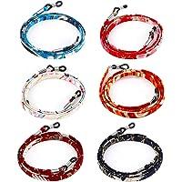 Hifot Cordon Lunettes 6 Pièces, Chaîne Lunettes de Soleil, Japonais Style Sangle Corde Retenue à Lunettes de Lecture…