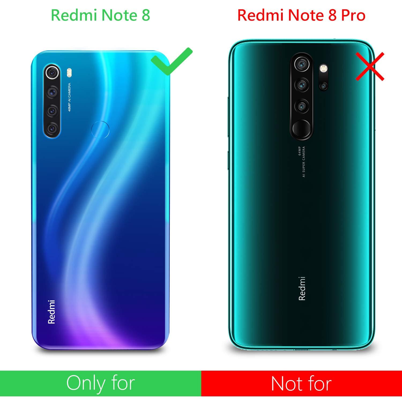 Cover Xiaomi Redmi Note 8 PRO Pellicola Protettiva in Vetro Nero