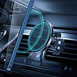 حامل هاتف مغناطيسي للسيارة من تشوتيك، يثبت على فتحة مكيف السيارة وقابل للتعديل بكافة الاتجاهات، متوافق مع هواتف ايفون 12/ 12