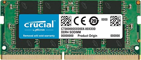 Crucial CT4G4SFS824A Memoria RAM de 4 GB (DDR4, 2400 MT/s, PC4-19200, Single Rank x 8, SODIMM, 260-Pin)