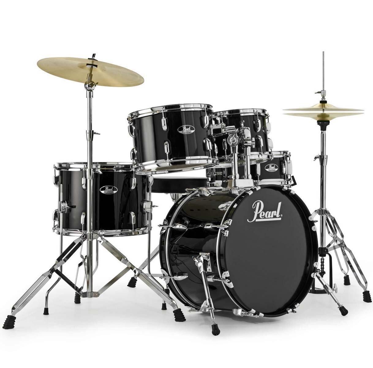 Pearl Road Show RS585C C31?Jet Black, batteria a percussioni, cuffie, 1?paio di bacchette