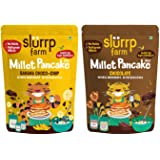 Slurrp Farm Instant Breakfast Millet Pancake Mix, Banana Choco-Chip, Supergrains and Chocolate, Natural and Healthy Food…