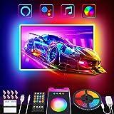 Nobent Tiras LED TV 3M Inteligente Luz Led Para 32-55in HDTV/PC USB RGB Luces LED Con Mando a Distancia APP Control Modos Mús