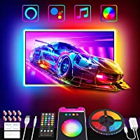 Nobent Striscia Led 3M, Intelligente RGB Retroilluminazione LED TV con Sincronizza con la Musica APP Controlled , per TV…