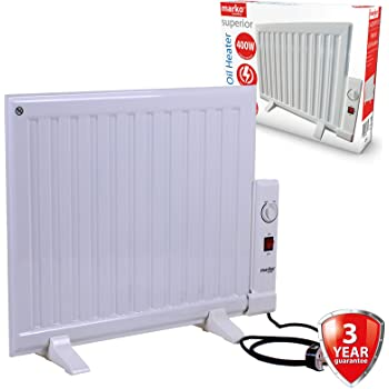 Marko Electrical 400w Panel Heater Oil Filled Radiator