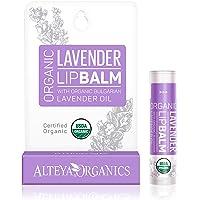 Alteya Organic Balsamo Labbra con oli essenziali di Lavanda Bulgara 5 g – USDA certificata organica bio naturale…