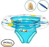 Salvagente Gonfiabile per Bambini, KimKo Baby Float Anello di Nuoto Giocattoli galleggianti da piscina per bambini (blu)