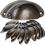 BESTZY 20 stuks schelpgrepen, schuifladen, handgrepen, antieke vintage handgrepen, bronzen kastgrepen, antiek, meubelgreep, h