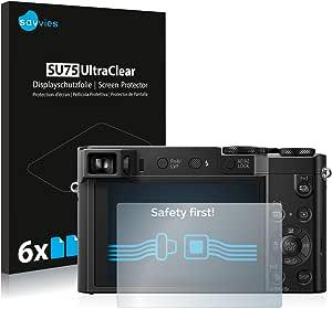 Savvies 6x Schutzfolie Kompatibel Mit Panasonic Lumix Dmc Tz100 Displayschutz Folie Ultra Transparent