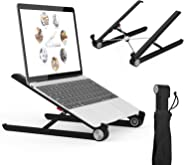 Artikel Uni-Lite Laptop Stand with Carry Pouch | Height Adjustable Laptop Riser | Increased Laptop Ventilation | Ergonomic Foldable & Portable | Universally Compatible | Black