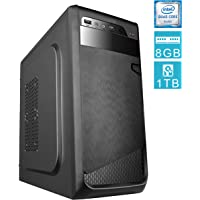 PC DESKTOP computer fisso • assemblato completo Intel QUAD-CORE 2.00 ghz • RAM 8gb • HDD 1tb • MASTERIZZATORE • WINDOWS 10 • DILC GREEN HIGH