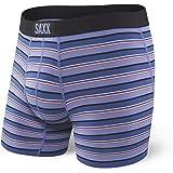 Saxx Mens Vibe Boxer Briefs Sports Underwear Purple Coast Strip