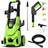 [Pro Version] Paxcess Electric Pressure Washer 1800W 135bar 450L/H High Power Jet Washer with 4 Quick-Connect Nozzles Snow Fo