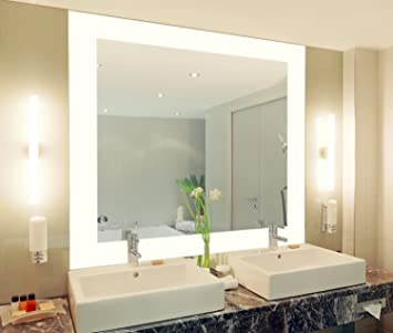 badspiegel mit beleuchtung vella m444l4: design spiegel für ... - Modernes Badezimmer Designer Badspiegel