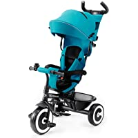 Kinderkraft Tricycle Enfant Évolutif ASTON, Canne Télescopique Amovible, Bleu