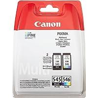 Canon PG-545/CL-546 Cartouche Multipack Noire + Couleur (Multipack plastique Sécurisé)