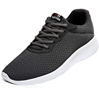 Men's Trainers Road Running Shoes Casual Mesh Athletic Sneakers for Gym Sports Fitness