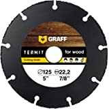 Träskärare GRAFF Termit 115 mm / 125 mm, vinkelslipmaskin trä skärhjul, tunn slipad av laminat, trä, plast, 125 mm
