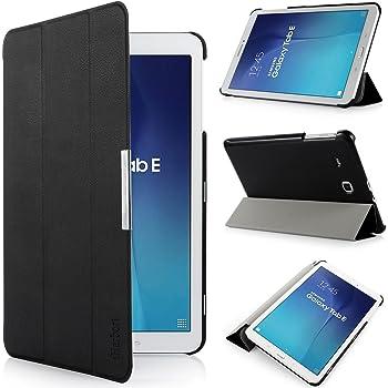 Iharbort custodia per Samsung Galaxy Tab E 9.6, custodia in pelle ultra sottile per Samsung Galaxy Tab E 9.6pollici T560T565, (Galaxy Tab E 9.6, nero)