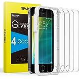 SPARIN [4 Stück] Panzerglas für iPhone SE/ 5/ 5s/ 5c( Nicht für iPhone SE 2020), Panzerglas iPhone SE 2016 mit [Nicht…