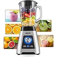 Kaffeemaschine, Aicok Filter Kaffeemaschinen, Anti-Drip-Funktion, Automatische Warmhaltefunktion, LED-Anzeige, Glaskanne für 1-12 Tassen, Permanent Filter, Schwarz
