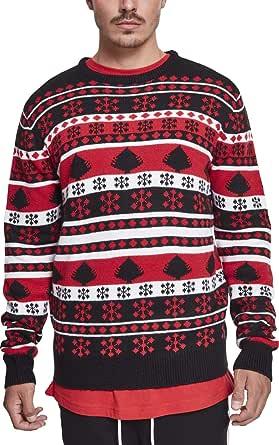 Urban Classics Snowflake Christmas Tree Sweater Felpa Uomo