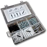 TheCoolio ASRPB-185 Assorted Screws and Nylon Plugs Set (Multicolor, 185-Pieces)