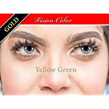 vision color cosmatic lenses ( yellow green )