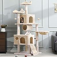 MSmask Kratzbaum groß, 175cm Kletterbaum für große Katzen, XXL Katzenbaum, Stabiler Kratzbaum Grosse Katzen mit Höhlen…