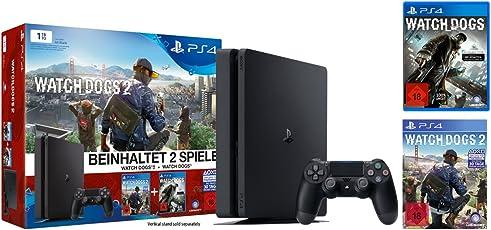 PlayStation 4 - Konsole (1TB, schwarz,slim) inkl. Watchdogs + Watchdogs2
