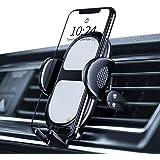 Amazon Brand - Eono Support Telephone Voiture Ventilation, Fixable aux Grilles de Ventilation, Porte Telephone Voiture avec R