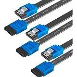 SATA III-kabel, BENFEI-pakket met 3 SATA III 6 Gb/s rechte kabel SSD-harde schijf Datakabel met 18 inch vergrendeling voor SA