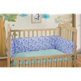 DearJoy Baby Cot Bedding Bumper/Cover (Blue/Extra Thickness)