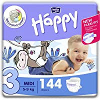 Bella Baby Happy Diapers Midi (White), 72 Piece (Pack of 2)