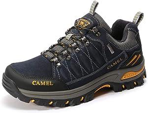 CAMEL CROWN Herren Outdoor-Wanderschuhe Leichte atmungsaktive Trekking-Wanderhalbschuhe Low-Top- Professionelle Rutschfeste Kletterschuhe - Ideal für die Ganze Saison Wandern & Trekking