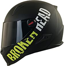 Broken Head BeProud Helm   Motorradhelm Set inkl. Schwarzem Visier - Integralhelm - Karthelm - Nakedbike schwarz-matt M (57-58 cm)