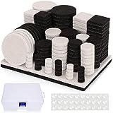 Almohadillas de Fieltro Adhesivo, Nisear Protectores para patas de mesa 178 fieltros adhesivos y 30 lagrimas silicona adhesiv