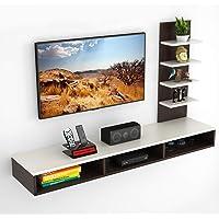 BLUEWUD Primax Engineered Wood TV Entertainment Unit ,Brown