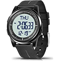 WIFORT Mens Women Digital Sports Watch Ultra-Thin and Wide Angle Vision Design, 5ATM Swimming Waterproof, Countdown Dual…