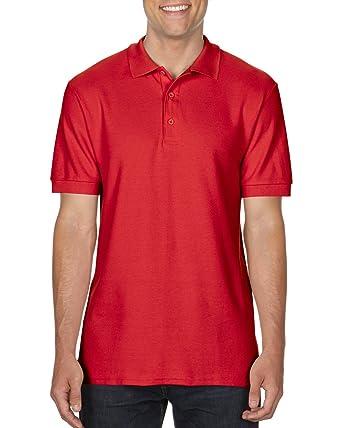 43b7cf21bd83c4 Gildan 85800 Mens Short Sleeve Premium Cotton Sport Polo Shirt - Red -  Small: Amazon.co.uk: Clothing