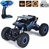 Toyshine HB 1:18 2.4Ghz Rock Crawler Remote Car, 4WD, Blue