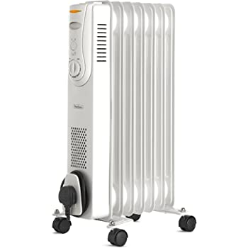 03e338311ad VonHaus Oil Filled Radiator 1.5KW 7 Fin – Portable Electric Heater – 3  Power Settings
