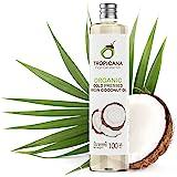 Tropicana Huile de Coco Bio Fractionnée Vierge (100ml) - Huile Coco Bio Pressée à Froid à Partir de Noix de Coco Entières - U